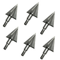 6Pcs 3-Blade 100GR Broadhead Arrow Points Tip Arrowheads Bow Archery Hunting