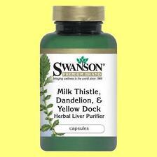 Milk Thistle, Dandelion & Yellow Dock, Beet Root - Liver Purifier - 120 capsules