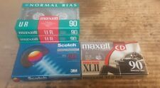 Blank Audio Cassette Tape 5 Pack Maxell UR90, Scotch BX60 and Maxell XLII #6