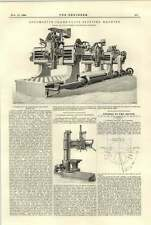 1894 Locomotive Frame Plate Slotting Machine Craven Manchester Atlas Radial Dril