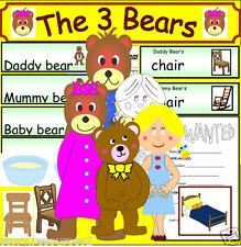 Goldilocks and the Three Bears - Story sack resources -CD EYFS KS1 Teaching