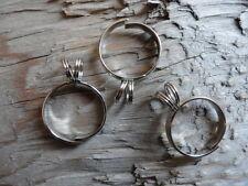 Clip On Adjust Ring Silver Plt Split Blank (Pkg 3) 0510