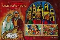 Sri Lanka Christmas StampSouvenirSheet 2019 Art child Christ/Jesus birth Mary