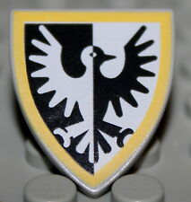 LeGo Castle Triangular Yellow Black Falcon Shield NEW