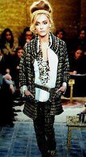 Chanel 11A NEW Paris-Byzance TWEED GOLD MULTICOLOR GRIPOIX Buttons Pants FR36$4K