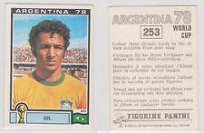 Panini sticker World Cup 1978 Argentina unused #253 Gil Brazil