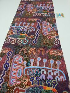 Indigenous Table Runner Water Dreaming Lightweight Canvas 150cm x 35cm