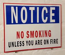 Notare che non fumare unlessyou sono in fiamme, Retrò alluminio metallo segno VINTAGE