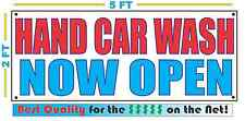 Hand Car Wash Now Open Banner Sign New Larger Size Best Quality for the $