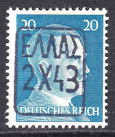 GERMANY 516 BLACK ZANTE (GREECE) OVERPRINT OG NH U/M F/VF
