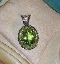 Chuck Clemency NYCII Sterling Silver Green quartz Peridot Pendant for necklace