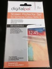 NEW 2 Pack Samsung Galaxy Note 3 Screen Protector Pack-front & Cleaning Cloth