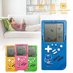 Kids Electic LCD Big Screen Classic Handheld Game Machine Tetris Brick Game Gift