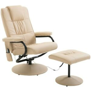 Electric Massage Chair Rest Recliner Sofa Foot Stool Heat swivel armchair seat