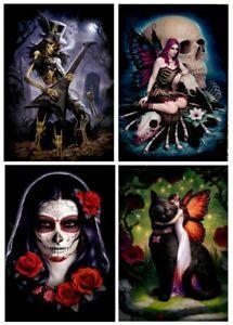 James Ryman Gothic Fantasy Artwork Blank Birthday Greeting Card - Skull Fairy