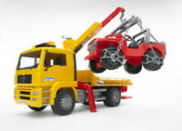 Bruder MAN TGA Abschlepp-LKW mit Geländewagen, 1 Stück