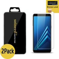 [2-Pack]SOINEED Tempered Glass Screen Protector For Samsung Galaxy A8+ 2018 6.0""