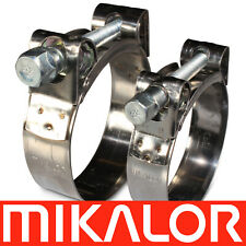 Mikalor Supra Hose Clamps Stainless Steel W2 Clips Heavy Duty Exhaust T Bolt