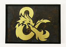 Dungeons and Dragons Gift Metal Wall Art Print Poster D&D Artwork Decor