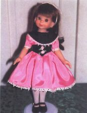 """Party dress Sewing Pattern fits 13"""" 14"""" Betsy McCall Kish Little darling dolls"""
