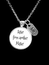 Best Friend Necklace Sister From Another Mister Best Friend BFF Friendship Gift