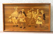 Intarsienbild, Bild aus Furnier, Kunst aus Holz