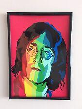 Psychedelic John Lennon A3 260gsm poster incorniciato stampa