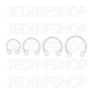Retainer Hider - Circular Horseshoe | 1.2mm (16g) - 10mm | BioFlex Balls Spikes