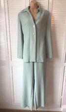Ladies Amaranto Pistachio Green Trouser Suit Size 16