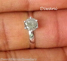 0.68 Ct 100% Natural Diamond Solitaire Engagement Wedding Ring 14K Gold Jewelry
