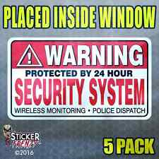 "5 Pack ""INSIDE"" WARNING Security System Stickers Home Alarm Decal Window FS031"