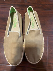 Sperry Top-Sider Khaki Canvas Espadrille Slip on Loafers Men Size 10 M