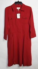 Talbots Dress 14P 14 Petite Rust Red NEW NWT Western Style Long Dress 14 P
