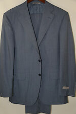 CANALI Travel Light Blue Stripe Suit Size 40 R  No alterations