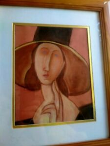 Vintage Oil pastel painting abstract Artwork