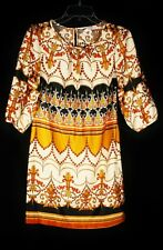 New Look 1960s Patterned Tunic Dress Sz 10
