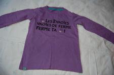joli tee-shirt ML violet fille 8 ans