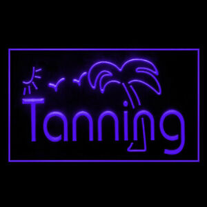160042 Tanning Sunshine  Bikini Beauty Display LED Light Neon Sign