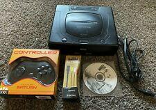 Sega Saturn MK-80000A Bundle System Console w/ 1 Controller & Madden 98 - TESTED