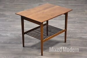 Solid Maple Planner Group Mid Crntury End Table By Paul Mccobb