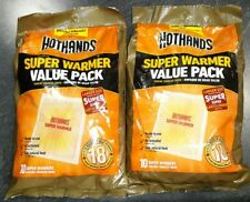 Genuine 20 HOT HANDS SUPER Hand Warmers EXP2023 - FAST FREE USA SHIP