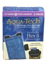 Aqua Tech HEX 5 #5 EZ Change Aquarium Replacement Filter Cartridge 3-pack, New