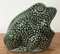 Vintage Wide Mouth Ceramic Frog Sponge Scrubby Holder Kitchen Organizer Brazil