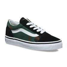 Vans Old Skool (Woodland Camo) Black Classic Kids Youth Shoes