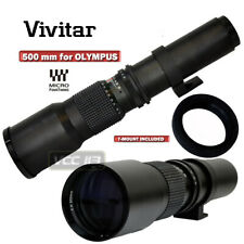 VIVITAR HD 500MM TELEPHOTO F8.0 LENS FOR OLYMPUS E-P3 E-PL3 E-PM1 E-PL2 E-PL1 P2