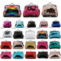Bags Sequins Coin Purse Clutch Handy Purse Card Holder Hasp Mini Wallet