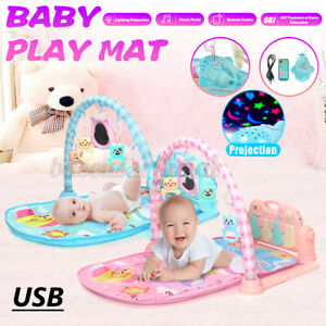 Soft Baby Gym Floor Play Mat Musical Activity Center Kick & Piano Toy Xmas Gift