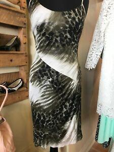 Cavalli strappy asymetricl silk jersey leopard print dress