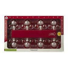Disney Parks Mickey Mouse Snowflakes Glass Christmas Holiday Lights Set of 8 NIB
