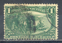 US Stamp (L2461) Scott# 285, Used LH, Nice Vintage Commemorative